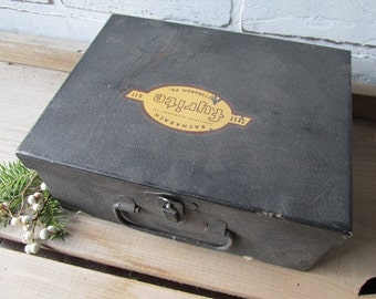 Vintage Black Metal Box Test Kit Fyrite Industrial Instrument Co