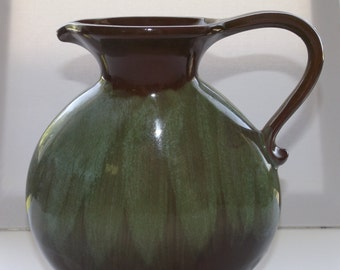 Blue Mountain Pottery with Rare Avocado Georgian Glaze Green and Brown Pottery Jug