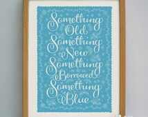 Something Blue Wedding Gift Print