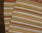 ON SALE Handwoven Placemats in Shades of Tan and White