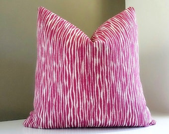 Designer Decorative Fuchsia Pillow Cover  - All  Sizes Available - Select your custom pillow size during checkout
