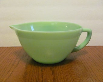 Vintage Fire King Jadeite Batter Bowl Mixing Sage Green