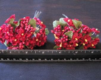 Millinery Flowers Antique Velvet Flowers Burgundy Flower Supplies