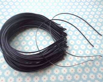 SALE--100 PCS  3mm black metal Headbands