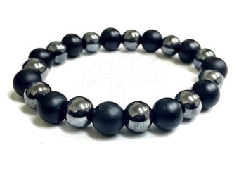 "Men's ""Kolur"" Onyx Beaded Bracelet"