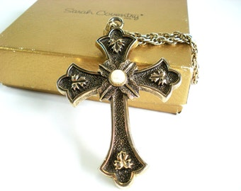Vintage Sarah Conventry Limited Edition Peace Cross Necklace