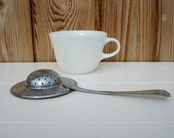 Vintage Tea Strainer Stainless Plate Metal Tea Cup Loose Tea Strainer