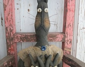 Made to Order ~Primitive Grungy Folk Art~ Mizz Betty's Bunny Bundle ~Rabbit Doll Set~HAFAIR