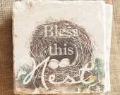 Nest Decor- Coaster, Bless This Nest, Nest Decor, Nest Gift, Bird Decor, Bird Gift, Garden Decor, House Gift, Easter Decor, Easter Gift