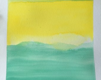 Original Watercolor Painting - Color Study No. 014