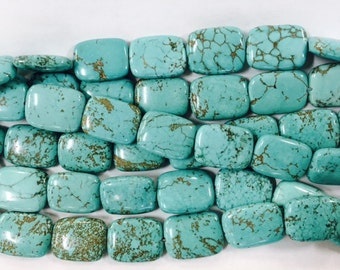 15x20mm rectangle howlite beads, 20 beads