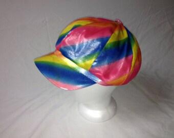 rainbow iridescent hat