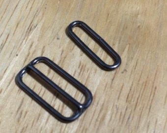 Bow tie slide adjuster and oval ring (10 sets)
