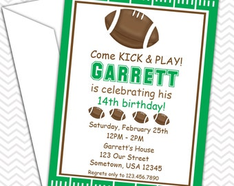 Football Party Invitations PRINTABLE - Birthday Party - Baby Shower