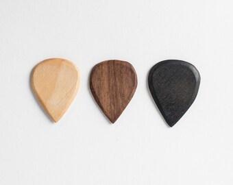 Hand Carved Guitar Picks - Set of 3