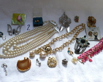 Jewelry Destash Lot 2-Necklaces,Earrings,Bracelets