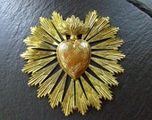 RESERVED For Teigan / Antique French Heart Reliquary / Ex Voto / Remerciments