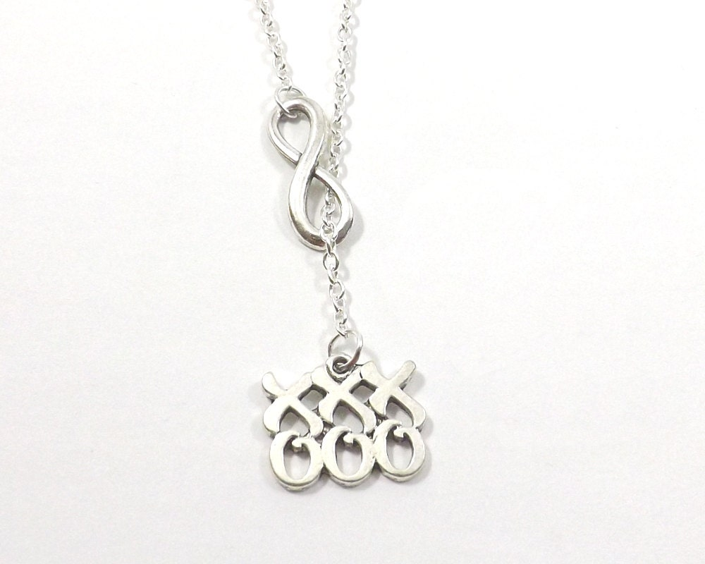 necklace hugs and kisses lariat necklace infinity
