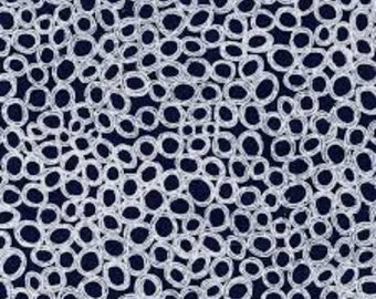 Henry Glass - Indigo Blue Circles in Blue 4946 by the Yard