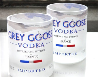 One Grey Goose Tumbler Glass Made From Recycled Grey Goose Bottle
