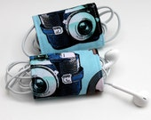 Vintage Camera Print Cord Wrap - Set of 2