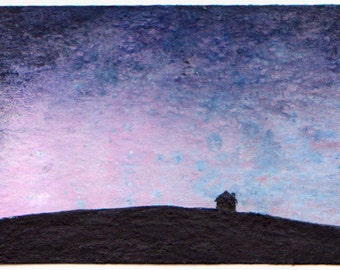 ACEO Original Landscape: At Twilight