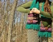 Gypsy Tears~ Beautiful Up-cycled Scarf~ w/ pockets~ Manzanita Buttons- Unisex Festivals, Hikes, Adventures
