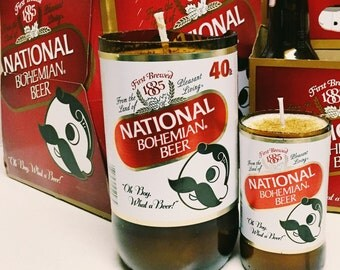 "Natty Boh Soy Candle:  ""Birthday Crab Cake"" Scented"