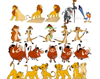 The Lion King digital clipart vector eps png  files  Clip Art Images Instant Download
