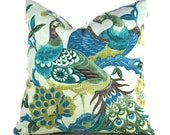 Pillow Covers ANY SIZE Decorative Pillow Cover Pillows Green Pillow Blue Pillow Aqua Pillow Richloom Preen Aqua Mist
