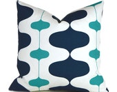 Outdoor/Indoor Pillow Covers ANY SIZE Decorative Pillows Designer Pillows Oxford Blue Pillow Premier Prints Ivon Outdoor Oxford Ocean
