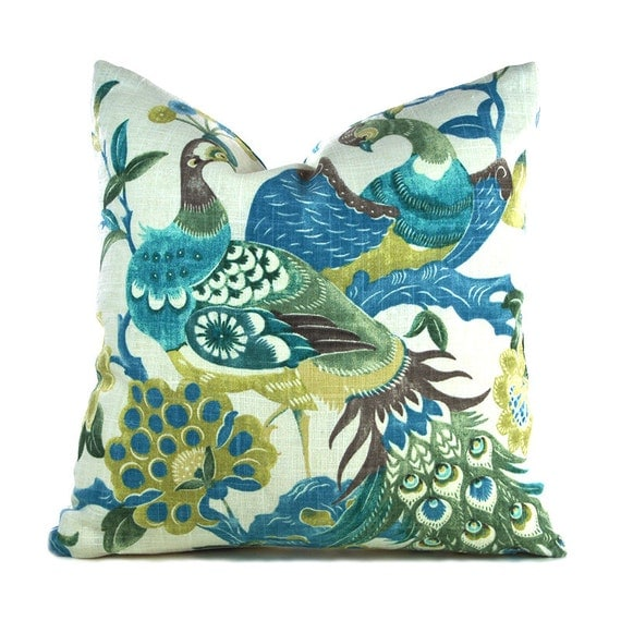 Throw Pillow Cover Measurements : Pillow Covers ANY SIZE Decorative Pillow Cover Peacock Pillow