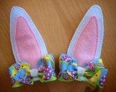 Bunny Ears, hair clips for Easter