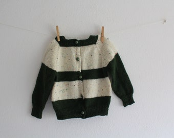 SALE 50 OFF Vintage Wool Toddler Jacket Baby Coat Handmade Kids Winter Clothing