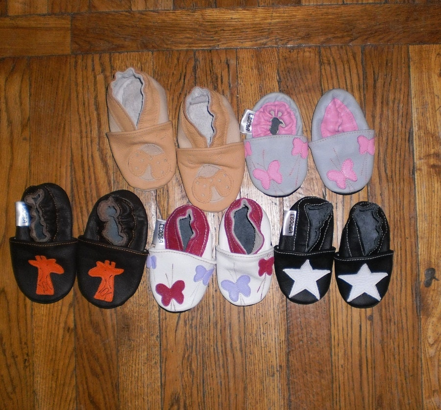Wholesale soft sole baby shoes 5 pairs different sizes and