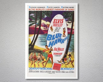 Blue Hawaii Movie Poster - Elvis Presley - Poster Paper, Sticker or Canvas Print