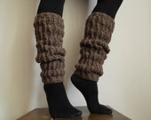 100% wool Hand knit leg warmer