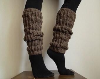 100% wool Hand knit leg warmer