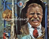 "President Theodore ""Teddy"" Roosevelt RESTORED ART Print Collage Format"