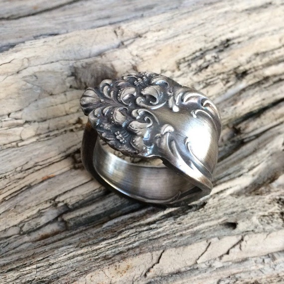 unique spoon ring by ladyforge by ladyforge on etsy