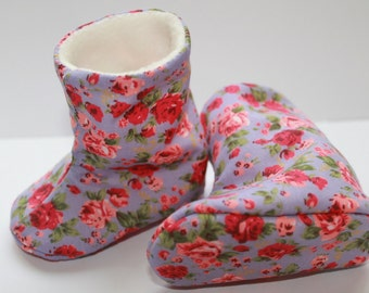 Floral Ditsy Baby Booties