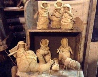 Simple Nativity Set e pattern