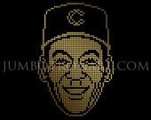 Ernie Banks Jumbotron Art - Limited Edition Gold Foil Print, 12 x12