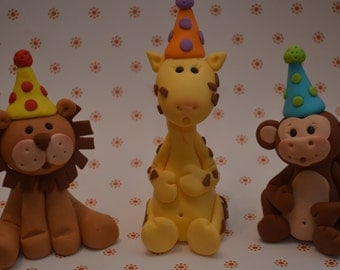 Party Animals cake toppers