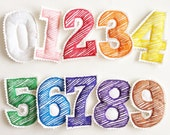 Magnetic/Plush SCRIBBLE Numbers