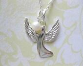 SS Angel charm pendant  angel jewelry angel pendant SS jewelry