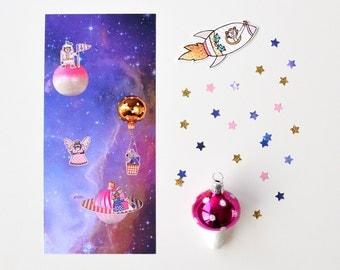Set of 5 christmas / holiday greeting cards