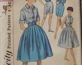 Vintage 1950's Simplicity Sewing Pattern For Misses Skirt, Shorts, And Blouse