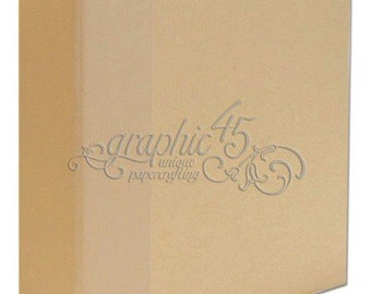 Graphic 45 - Staples Collection - Mixed Media - Album - Kraft