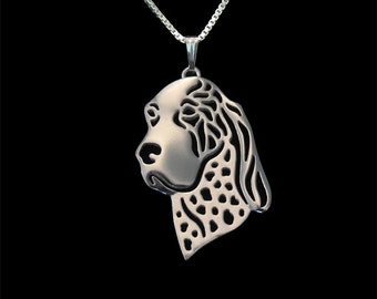 Bracco Italiano jewelry - Sterling silver pendant and necklace